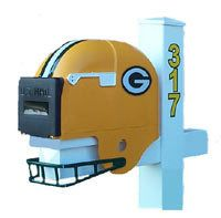 Green Bay Packers Helmet Mailbox NFL Mailbox is Constructed of High Density Polypropylene Measures USPO approved One year guarantee on workmanship Green Bay Packers Helmet, Packers Gear, Green Bay Packers Fans, Nfl Packers, Cool Mailboxes, Nfl Football Helmets, Nfl Gear, Go Pack Go, Diy Projects