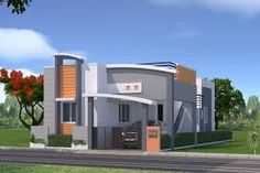 Independent house elevation designs in india Single Floor House Design, Duplex House Design, Front Elevation Designs, House Elevation, Corner House, House Front, Normal House, House Design Pictures, Independent House