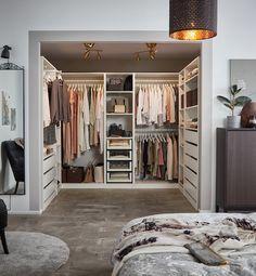 Walk In Closet Design, Bedroom Closet Design, Ikea Bedroom, Home Room Design, Closet Designs, Home Interior Design, Bedroom Furniture, Bedroom Closets, Master Bedroom Closet