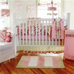 Fall in love with this perfectly pink paisley baby bedding set.                                www.selectbedbath.ca