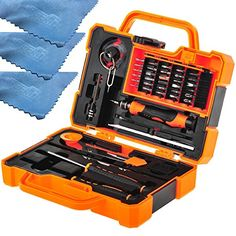 EEEKit Precision 45 in 1 Screwdriver Set Repair Kit Tools for iPhone, iPad, Samsung, and other Smartphone Tablet Computer Electronic Devices(45in1) EEEKit Precision 45-in-1 Screwdriver Set Repair Kit Tools for iPhone 6/Plus/5S, Samsung Galaxy S6/S6 Edge/S6 Active/S5/Note 4, LG G4/G4 Note LS770, HTC One M9/M8, iPad Air 2/Mini 3 2, Samsung Galaxy Tab A 8.0 9.7/Tab S 8.4 10.5/Tab 4 8.0 10.1, HP Stream 8, Verizon Ellipsis 8, Toshiba Encore 2 WT8-B32CN, Dell Venue 8 Pro or any other Smartphone…