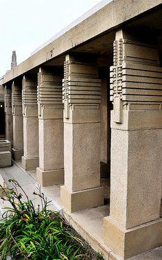 Aline Barnsdall Hollyhock House, East Hollywood, California, 1919–1921. Frank Lloyd Wright.