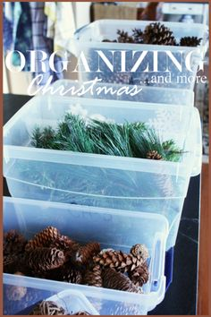 ORGANIZING CHRISTMAS Easy ways to take down and organize Christmas decorations! LOTS of ideas! stonegableblog.com