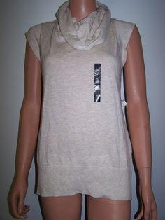 Banana Republic NWT Size XL Cowl Neck Sleeveless Knit Top  #BananaRepublic #KnitTop #Casual