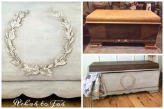 Check out Mary Pat's Painting & Finishing  Boards - Lane Cedar Chest With Raised Bondo Stencil