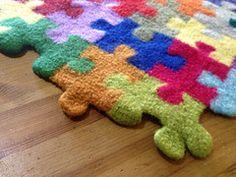Ravelry: Puzzle Pieces pattern by Megan Ellinger - Gorgeous colourful puzzle blanket / afghan (hva)