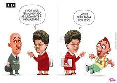 FIES - Dilma aponta para diretor e culpa estudantes pelos aumentos nas faculdades...
