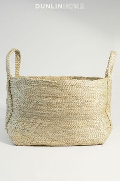 Jute Storage Collection. Large Basket. Natural