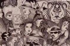 TX Chicano Prison Art Panos. Four Panos. : Lot 825