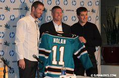 Congrats to Owen Nolan for retiring as a San Jose Shark!