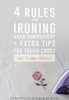 4 rules for ironing