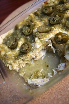 Salsa Verde Chicken Lasagna....only one pan used to make this salsa ...