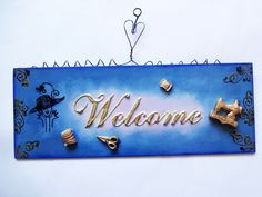 Placa Welcome personalizada.