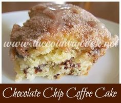 Secret Recipe Chocolate Chip Coffee Cake