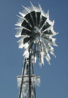 windmill after an icestorm