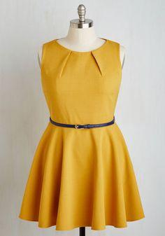 Luck Be a Lady Dress in Goldenrod   Mod Retro Vintage Dresses   ModCloth.com