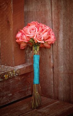 Long Stem Roses Wedding Bouquet