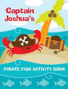 Pirate Fish Coloring Book