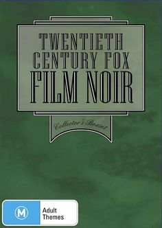 20th Century Fox Film Noir | Boxset Classic, DVD | Sanity