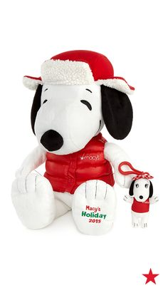 Look who's all bundled up for the holidays. It's Snoopy!