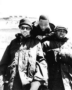 Redman,Keith Murray and Erick Sermon...hip hop headz show respect.