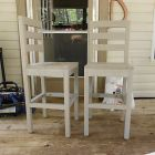 Ana White   Build a Extra Tall Bar Stool   Free and Easy DIY Project and Furniture Plans....Now that my pub table is complete (ok, minus one cross support) I need chairs. I think this one will do the trick! Can't wait to get started on this!!!!