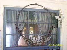 Barbed Wire Crafts Of Names | Crafts to do... / Barbed wire wreath