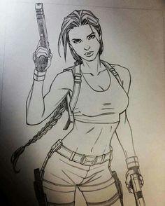 Lara Croft by andyparkart