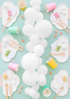 Party Ideas College Baby Shower 48 New Ideas Cloud Party, Baby Shower Parties, Baby Shower Themes, Baby Shower Decorations, Cloud Baby Shower Theme, Shower Ideas, Shower Baby, Bridal Shower, 9th Birthday Parties