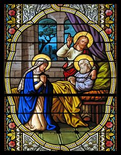 Jesus and Mary at the deathbed of St Joseph / http://www.contactchristians.com/jesus-and-mary-at-the-deathbed-of-st-joseph/