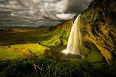 Cascada en Seljalandsfodss, Islandia