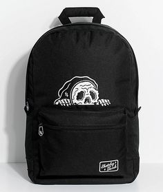 Creeps beware! The Lurker backpack from Sketchy Tank offers edgy style and ample storage space.  This black canvas design has two storage compartments, a padded laptop sleeve and a