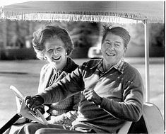 Margaret Thatcher and Ronald Reagan. Margaret Thatcher inspires because she… Margaret Thatcher, Reagan Thatcher, American Presidents, Us Presidents, American History, Wall Street Journal, Michael Hudson, The Iron Lady, Nancy Reagan