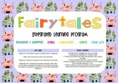 Lots of great ideas for an integrated Fairy tales learning program