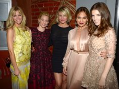 Party of five! What to Expect When You're Expecting costars Brooklyn Decker, Elizabeth Banks, Cameron Diaz, Jennifer Lopez and Anna Kendrick flaunt their individual styles at their film's Hollywood premiere on May 14.