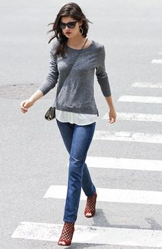 Kensie Sweater & Paige Denim Jeans | Nordstrom