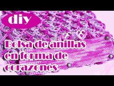 Como hacer una bolsa con anillas de lata: Bolsa de Corazones Parte 2