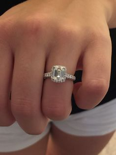 Another bee joins the emerald cut family! - Weddingbee