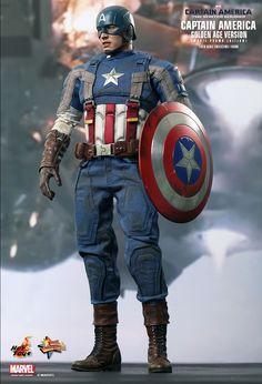 1/6th scale Captain America (Golden Age Ver.) Collectible Figure