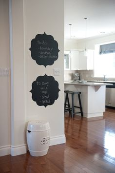 chalkboard wall decals. $45 See more High Impact Wall Design @Pinterest.com/mintsage/high-impact-wall-art/