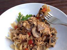 Ragoût de tofu aux champignons