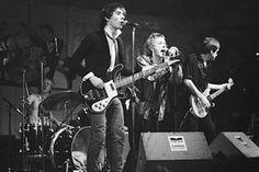 1977. The Sex Pistols on stage at Paradiso in Amsterdam. From left to right: Paul Cook, Glen Matlock, Johnny Rotten and Steve Jones Sex. #amsterdam #paradiso #Sex #Pistols