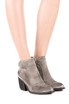 Jeffrey Campbell Shoes MAVERIK-MT Booties in Grey Distressed