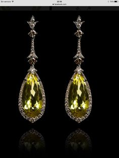 earrings shopping lemon drop david pave earring shop memorial with yurman and day special bezel chatelaine diamonds double citrine