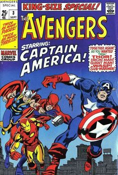 A great classic comic featuring the Avengers. The Avengers King-Size Special by John Buscema, Sal Buscema Sam Rosen. Avengers Comics, Bd Comics, Marvel Comic Books, Comic Books Art, Comic Art, Book Art, Univers Marvel, X Men, Comic Books For Sale