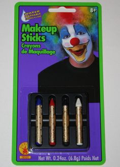 Rubies Highlite Makeup Sticks party clown theatrical washable face paint crayons #Rubies