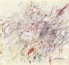 "Cy Twombly, ""Leda and the Swan"" (1962), Oil, pencil, and crayon on canvas, Museum of Modern Art, New York"