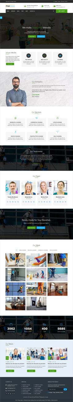 Mega Cleaner - Cleaning Responsive HTML Template Cleaning services - spreadsheet for cleaning business