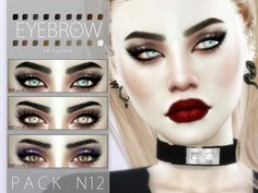 The Sims Resource: Eyebrow Pack N12 by Pralinesims • Sims 4 Downloads