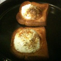 Toast and eggs cooked together in 10mins in the NuWave oven